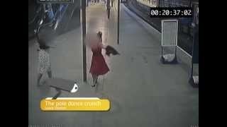 Funny Footage of women suffering embarrassing slips and falls at railway stations