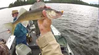 Walleye and Perch Fishing - Lake of the Woods Fishing Report Video 8-7-12