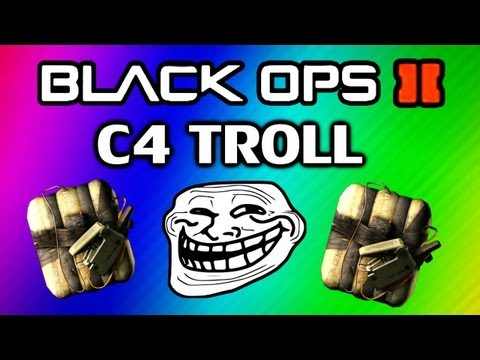 Black Ops 2 C4 Glitch Trolling Suicide Troll on Drone Montage and Tutorial Funny Moments рыбалка троллингом на оке