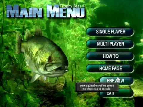 Как ловить рыбу Trophy Bass 4 fishing game demo (Sierra On-Line / Field & Stream)